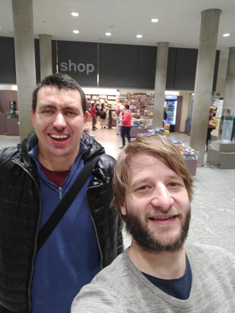 Dominik und Simon im Technischen Museum