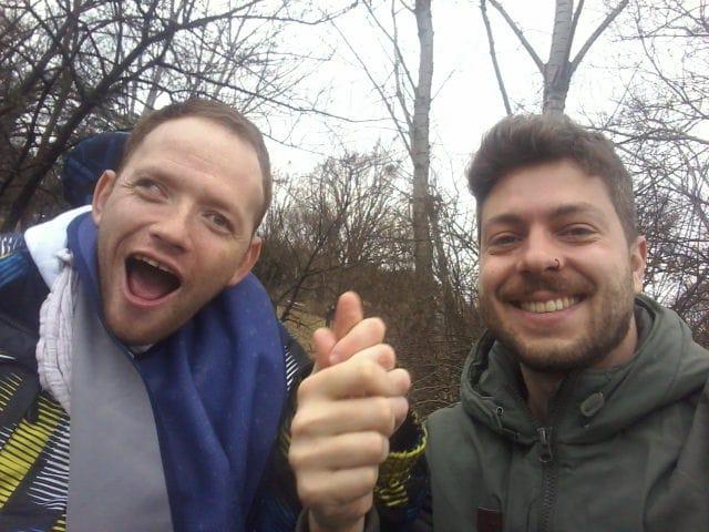 Dani mit Gabriel im Park.